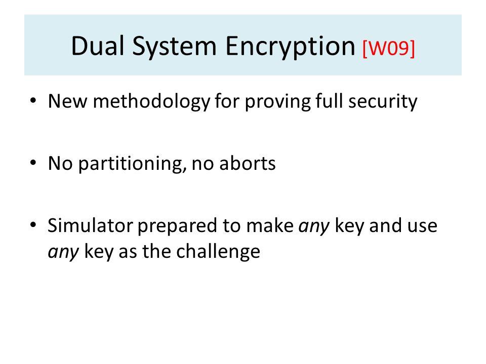 Dual System Encryption [W09]